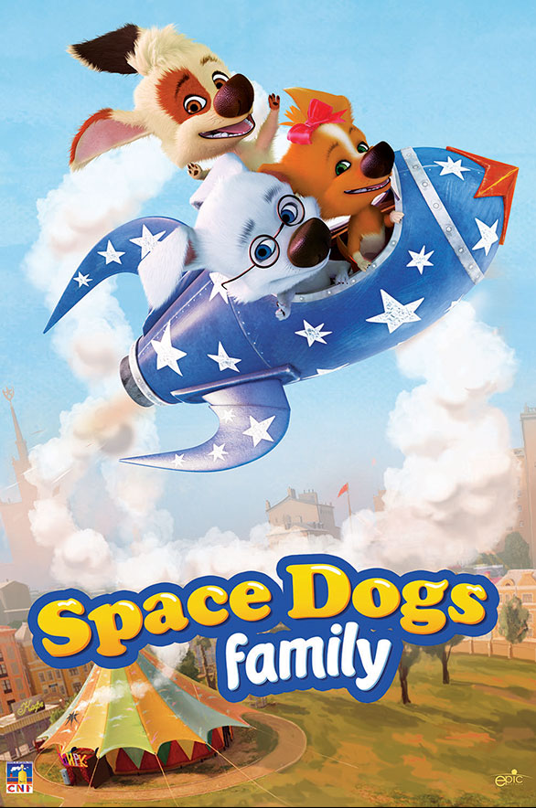 More than a hundred episodes of «Space dogs. Family» now in the Prime time the main European TV channels.