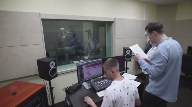 Ivan Uryupin and Philip Kirkorov on the recording of music for «Suvorov»